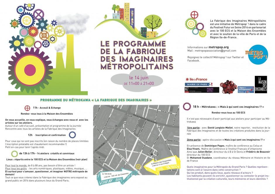 Programme Fabrique des Imaginaires Métropolitains